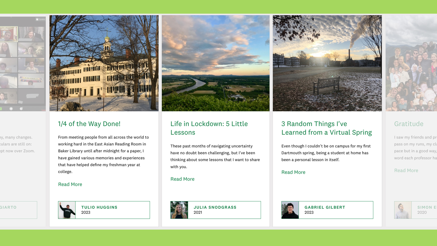 A photo of spring blog posts