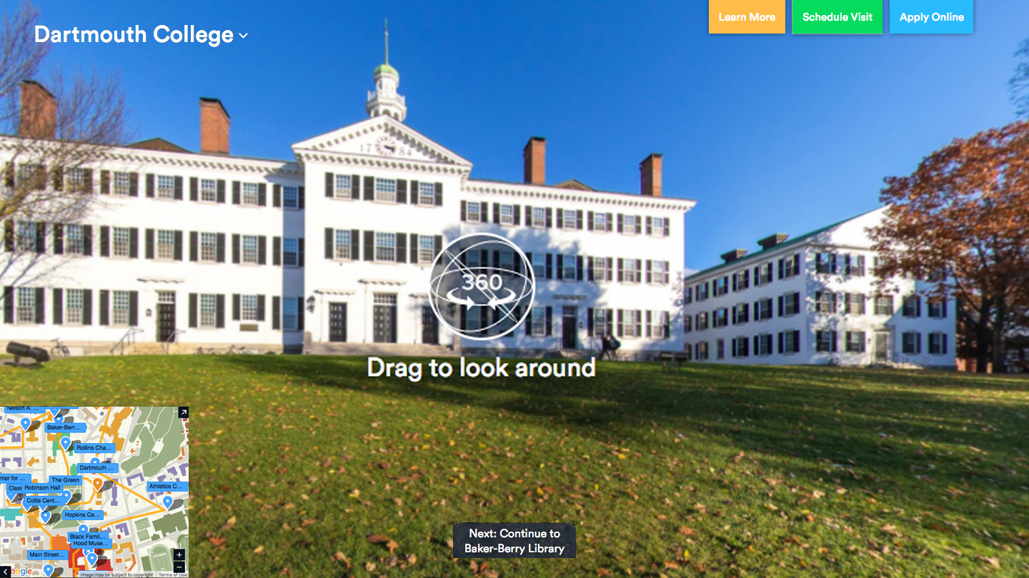 An image from the virtual tour