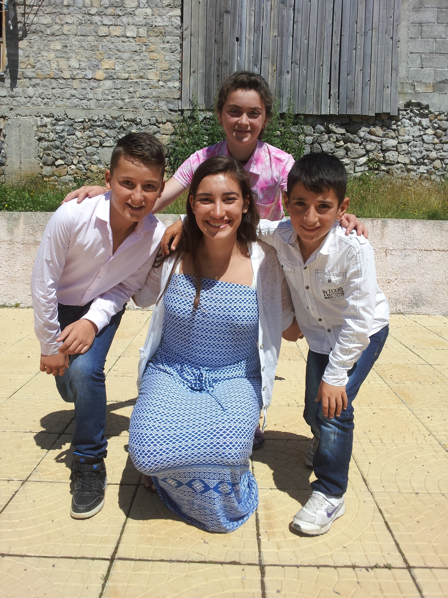 school dance adina and kids