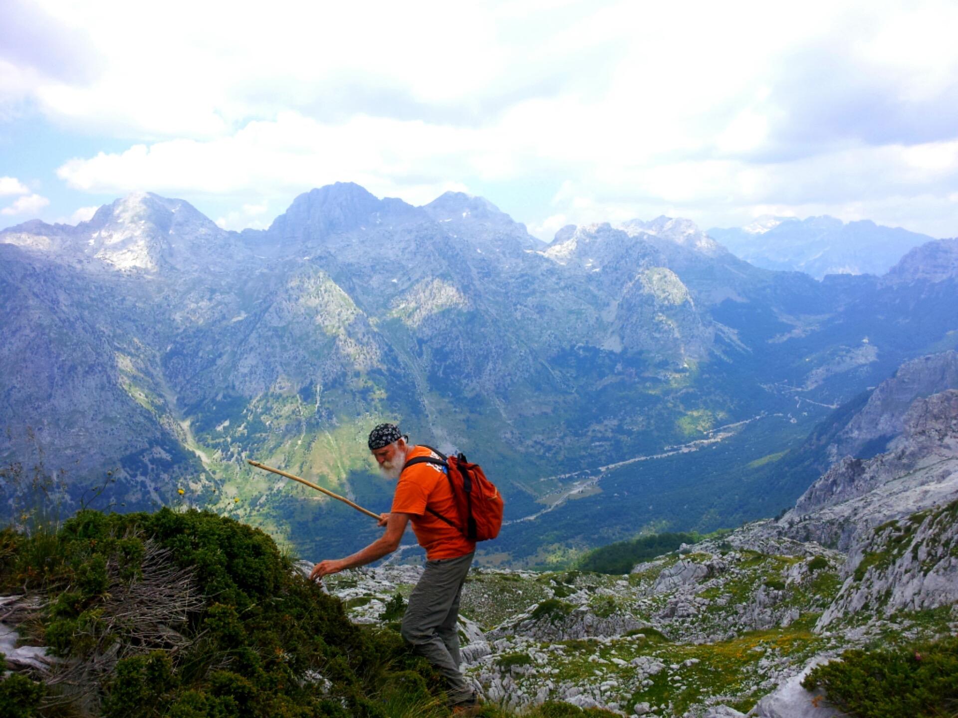 hike Steve albanian alps