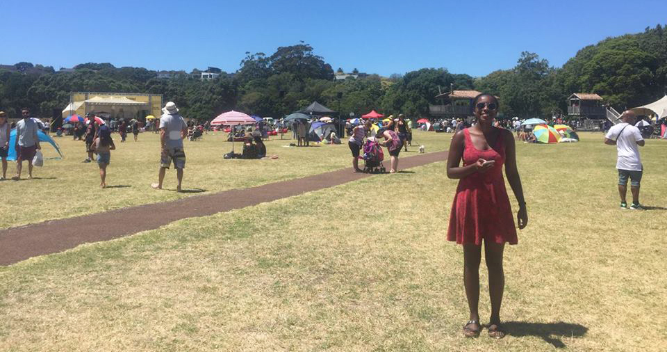 This photo of me (that's me in the red dress) was taken in Auckland, New Zealand at a festival for Waitangi Day, a holiday that celebrated New Zeland's founding. I spent my 2017 Winter term in New Zeland as part of a foreign study program (FSP).