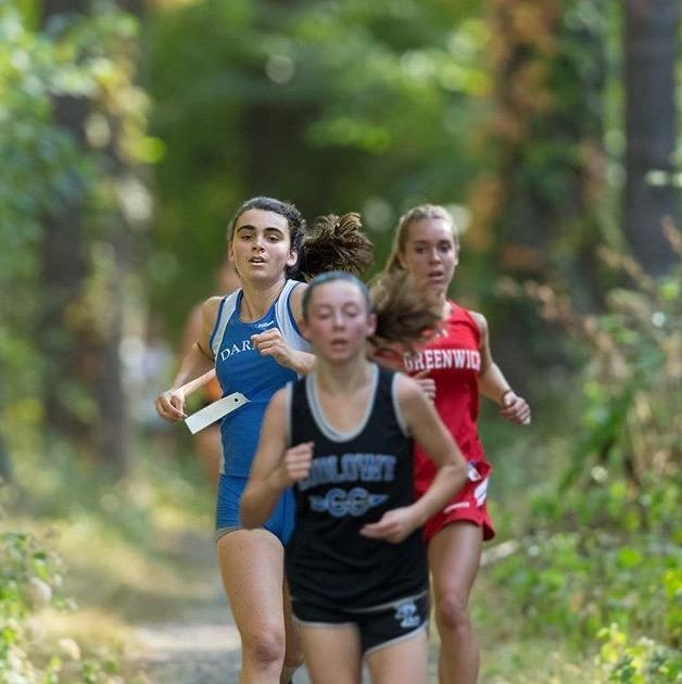 three girls in race