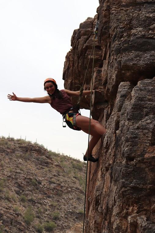 woman at top of climb