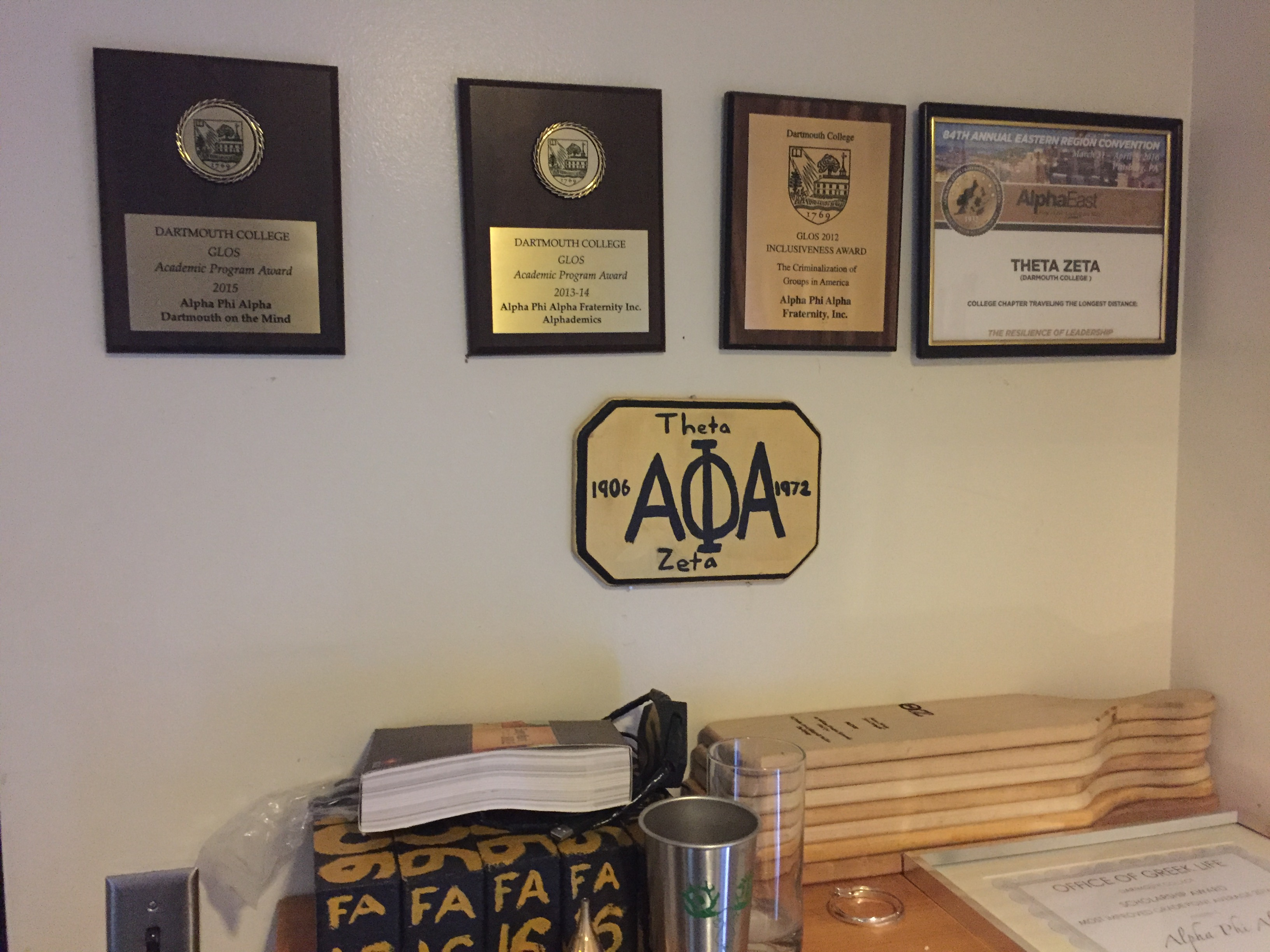 Awards won by Theta Zeta