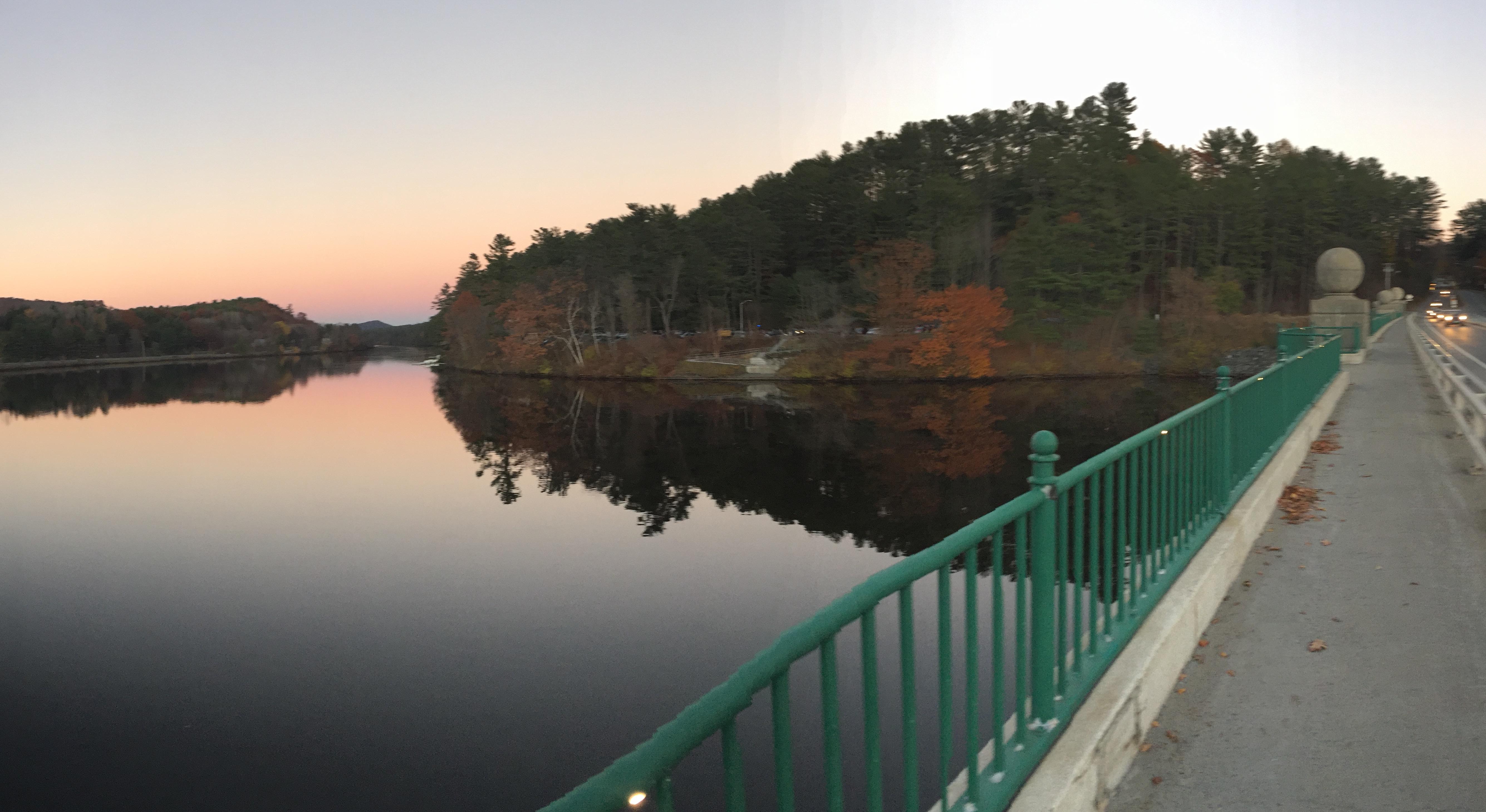 Sunset from Ledyard Bridge