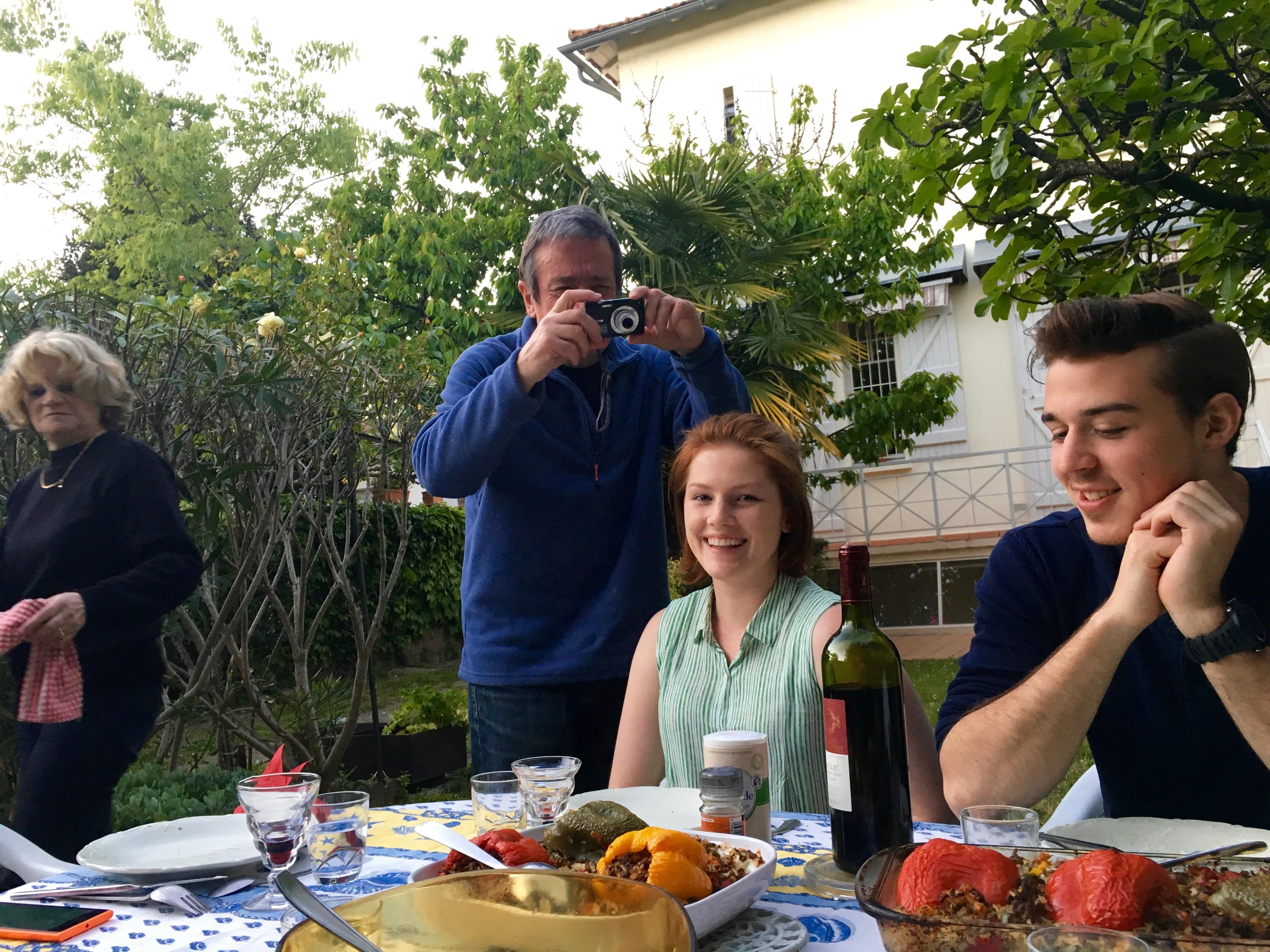 host family dinner friends