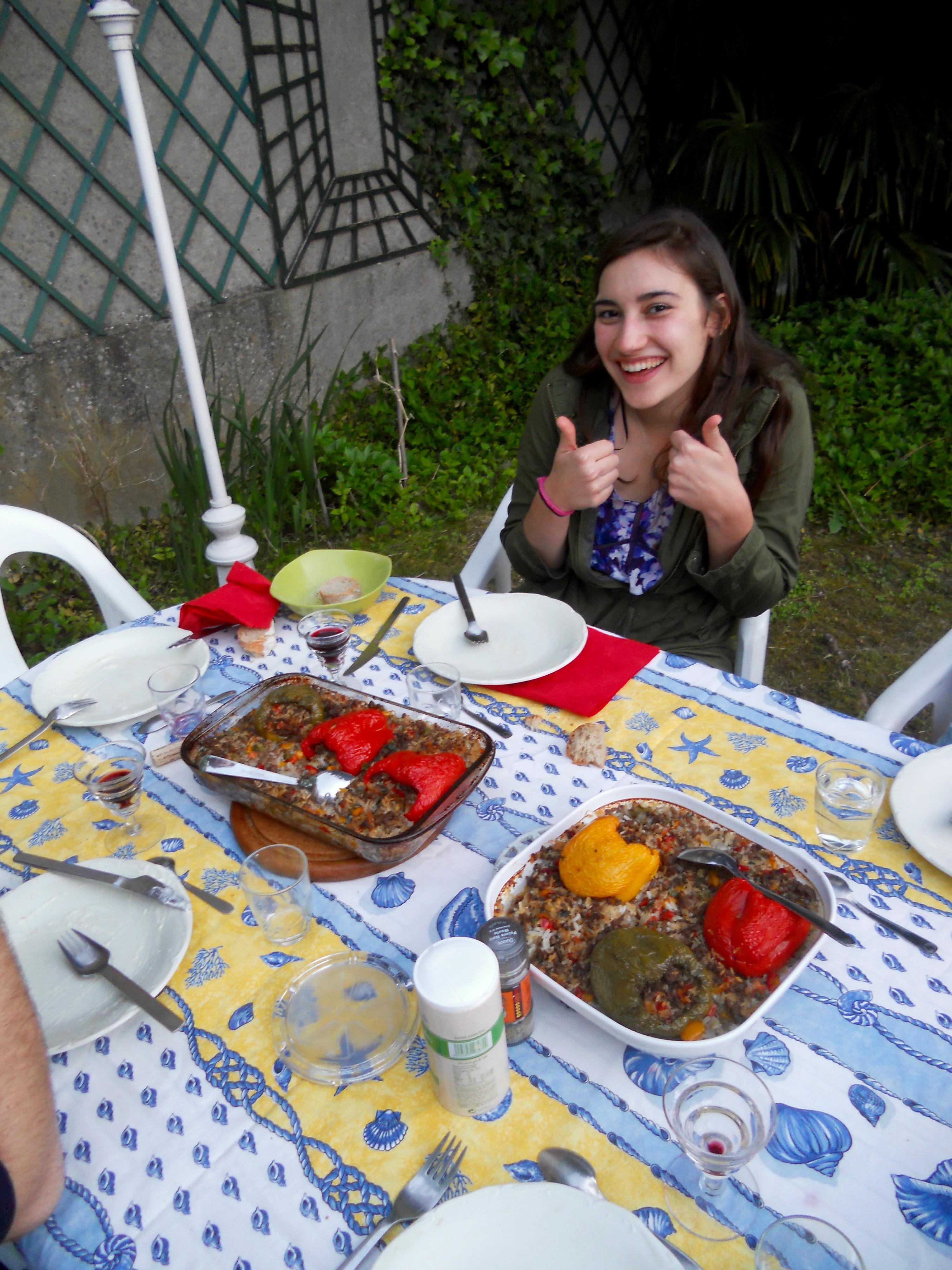 bell peppers host dinner france adina
