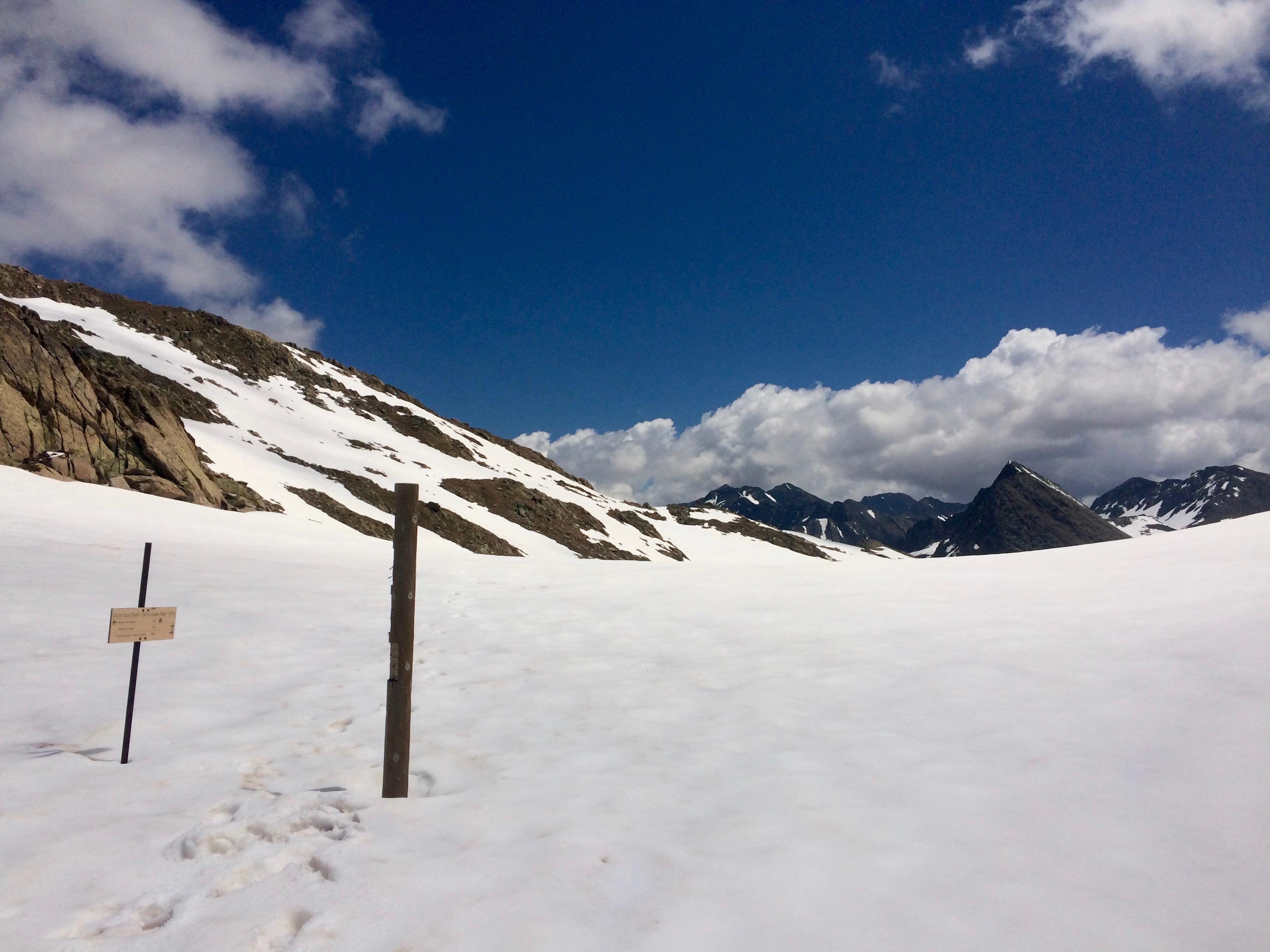 snow on the LSA hike