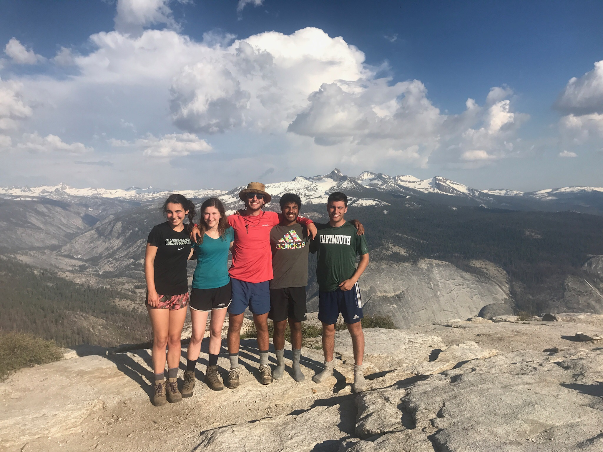 Dartmouth students atop Cloud's Rest, Yosemite
