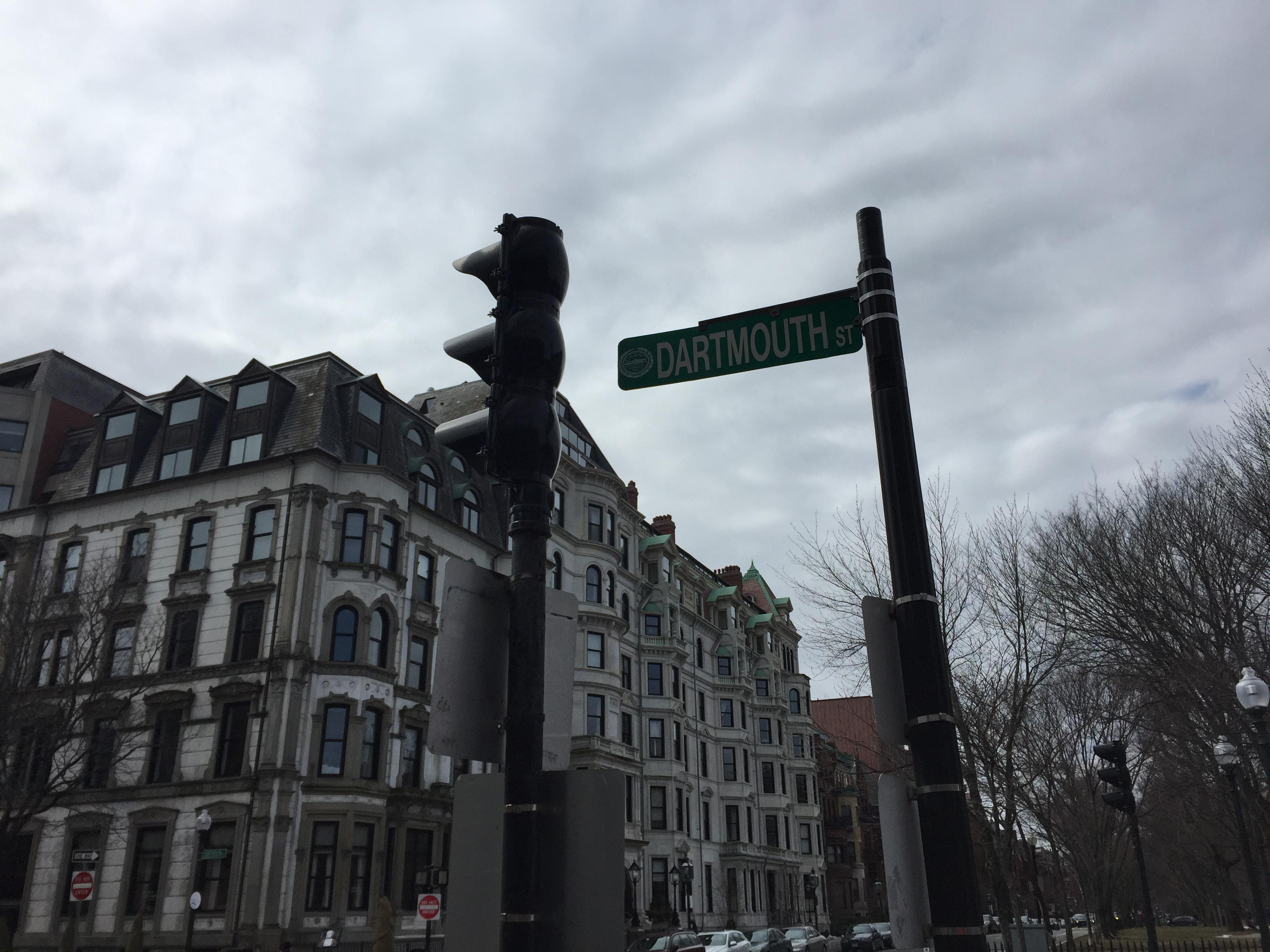 """Dartmouth Street"" sign, Boston, MA"