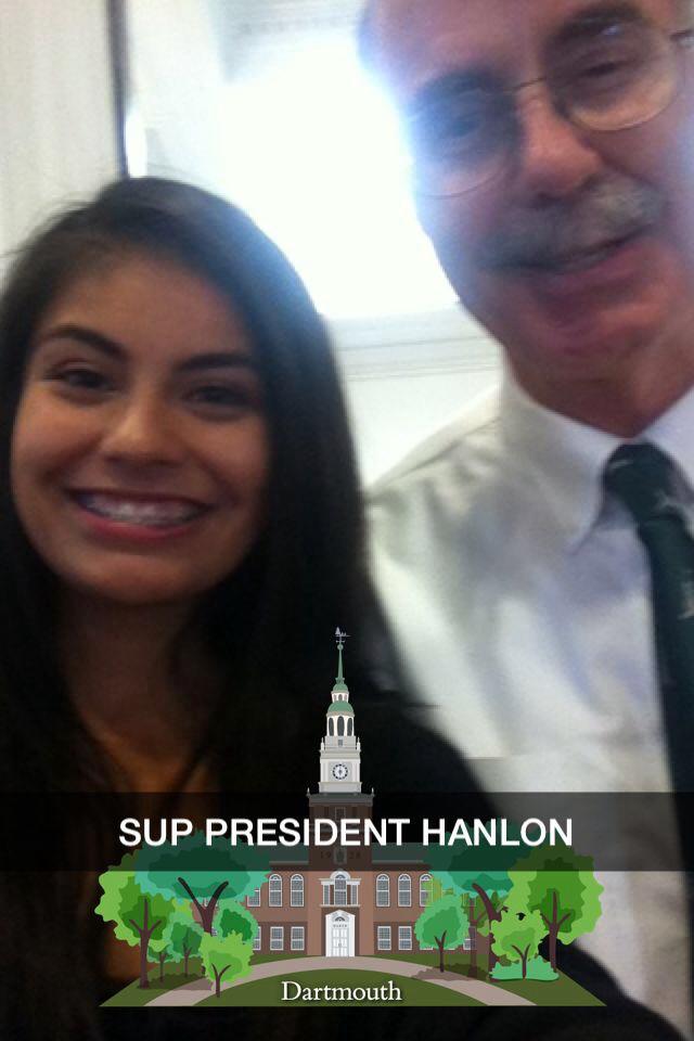 Girl selfie with President Hanlon