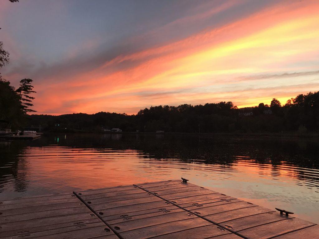 A sunset on the docks