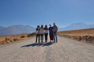 Colleen with her four co-worker in the Andes Mountains