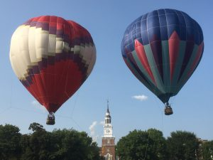 hot air balloons on the Green