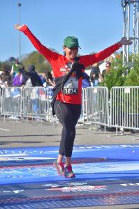 girl running a race