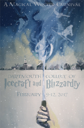 Each year, the Winter Carnival Council chooses a student designed poster. The winning poster this year was designed by Helena Eitel '17
