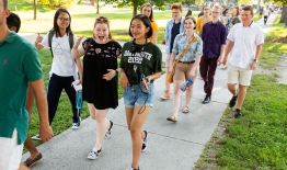 Photo of members of the Class of 2022 during orientation