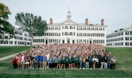 A photo of the entire Class of 2023 in front of Dartmouth Hall