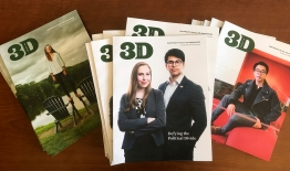 A photo of 3D Magazine covers