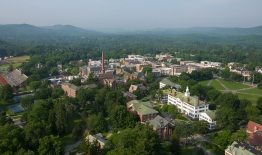 A photo of campus from a drone
