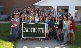 A photo of the Dartmouth Bound Summer Program group members