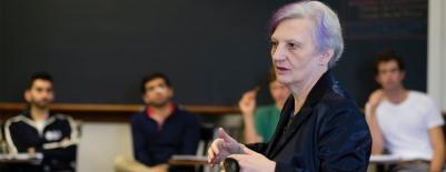 A photo of professor Graziella Parati in her classroom