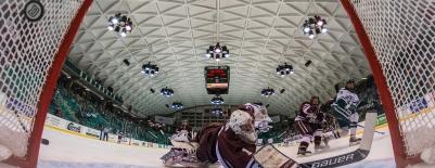 Photo of the Dartmouth Hockey Team scoring a goal