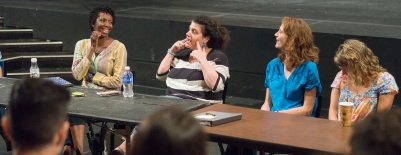 Photo of panelists at a New York Theater Workshop event
