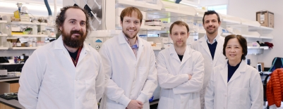 A photo of professor Ryan Halter and the Thayer School Williamson Translational Research Building Faculty