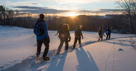 Sunset Snowshoeing