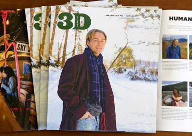 A photo of 3D Magazine, Nov 2019, cover and two inside pages