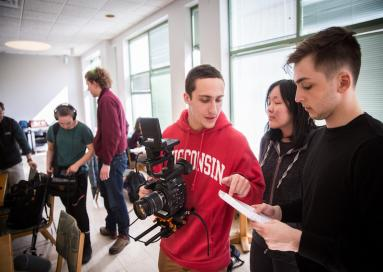 A Film Studies 36 class films in the e Hopkins Center.