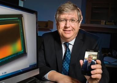 A photo of professor Eric Fossum