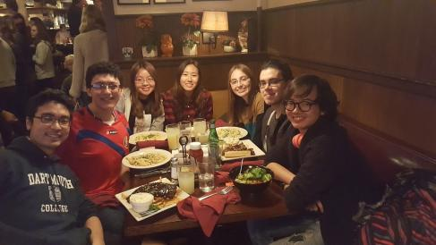 people smile dinner