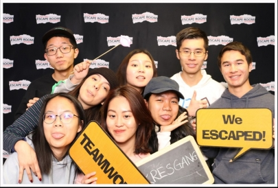 At the Photo Booth after the Escape Room