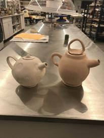 Two tea pots by Carlos