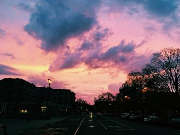 A cotton candy sky in Hanover.