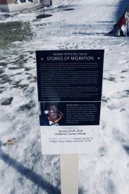 plaque explaining art exhibit
