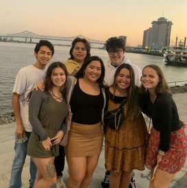 Gabriel and friends in New Orleans