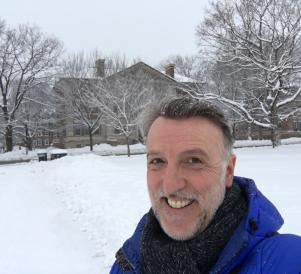 Lee on snowy campus