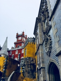 The multi-coloured courtyard of Pena Palace.
