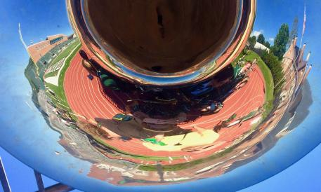 Reflection in tuba bell