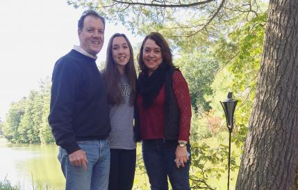 colleen and her parents