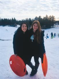 holding sleds