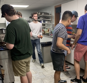 Students fighting hunger with my fraternity!