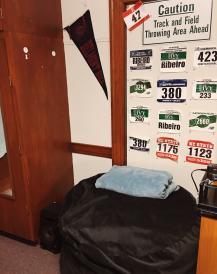 beanbag chair in dorm room