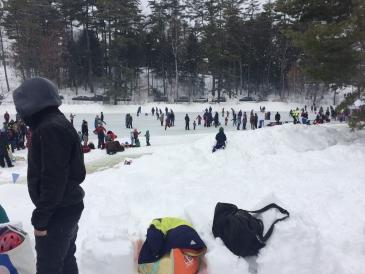 Skating at Pond Party