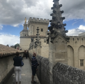 My host family on medieval ramparts