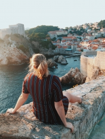 Here's a picture of me exploring Dubrovnik, Croatia!
