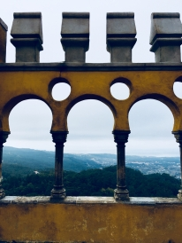 A view of Sintra from Pena Palace.